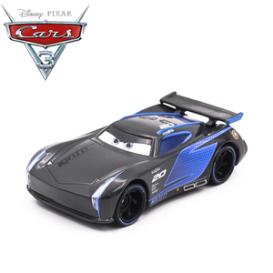 Image 2 - Disney Pixar Cars 3 2 Metal Diecast Car Toy Black Storm Jackson Lightning McQueen Truck Model Children Car Toys Christmas Gift