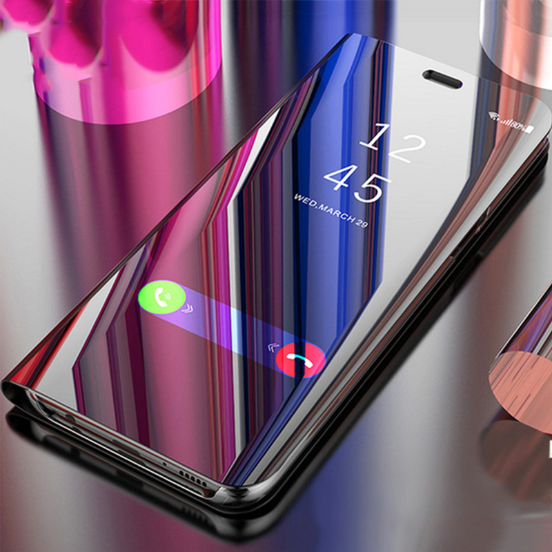 Touch Flip Stand Case For Samsung A9 Star Note 9 8 S10 S9 S8 S7 Edge Plus A6 A8 J6 J8 A5 A7 2017 2018 Mirror 360 Full Cover S10E
