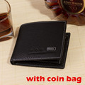 Coin Bag New 2015 Leather Men Wallet Designer Bifold Wallets For Men Casual Fashion Brand Men Purses With Coin Bag