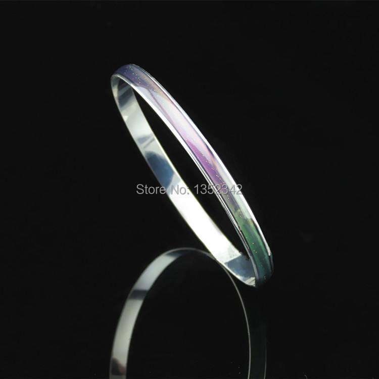 Creative Christmas gifts Stainless Steel Bracelets Bangles wide 6mm temperature mood chang