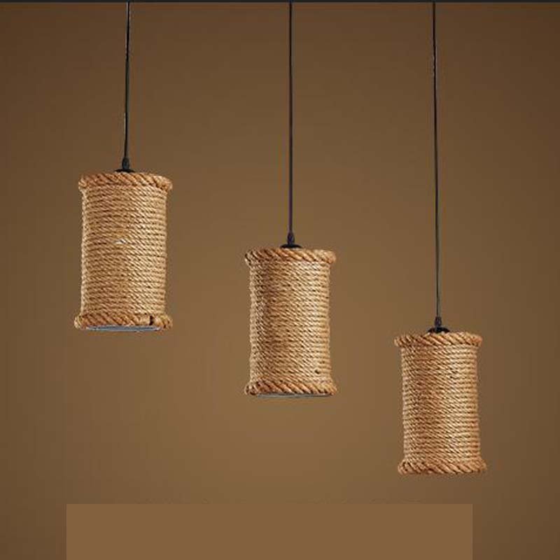 pendant light American country iron rope loft retro Restaurant Bar special offer clothing store pendant lamp ZA GY266 lo1019 american loft retro personality industrial fan iron pendant light bar restaurant clothing store droplight