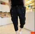 2015 verano moda casual pantalón marea coreana harem de gran tamaño los pantalones de caballero no convencionales etapa trajes del cantante de ropa