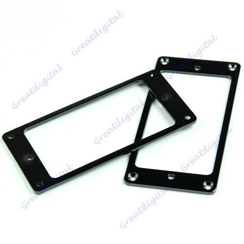 M65 M65 1 Paar Zwarte Platte Humbucker Pickup Frame Montage Ringen Voor Lp Elektrische Gitaar
