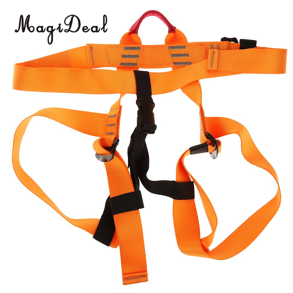 Magideal Professional1 Set Rock Climbing Kit Safety Harness Rappel Belay Carabiner 10m Rope For Mountaineering