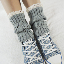 Hot Women's Crochet Knitted Lace Trim Toppers Cuffs Liner Leg Warmers Fashion Boot Cutton Socks 5AX9 7FNU