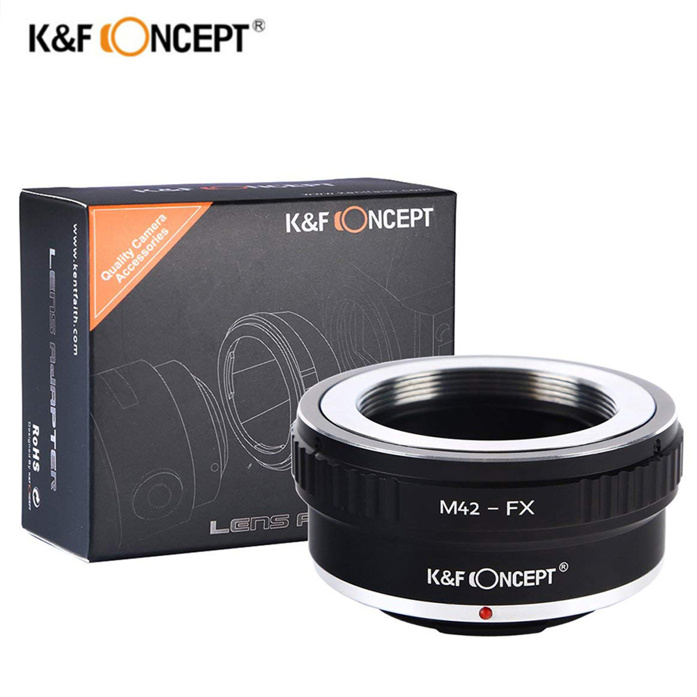 K&F Concept M42-FX Lens Mount Adapter Ring For M42 42mm Screw to Fuji Fujifilm FX X-Pro1 X-E1 X-M1 X-A1 X-E2 X-T1 cameras