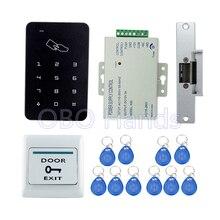 Pełna kompletna kontrola dostępu do drzwi RFID zestaw do organizacji klawiatura cyfrowa + zasilacz 3A/12V + elektryczna blokada strajku + 10 sztuk kart identyfikacyjnych