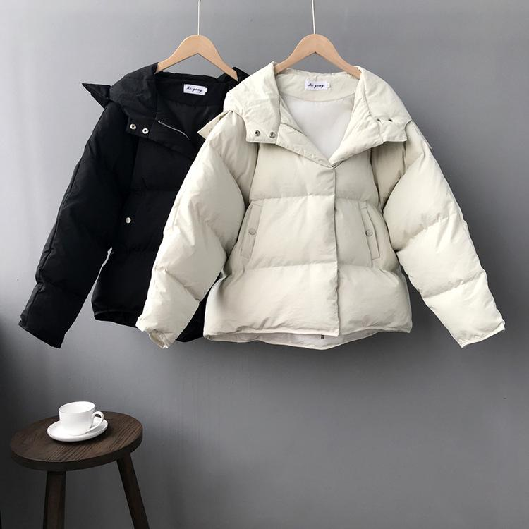 Winter Women Jacket Pure Color Short Cotton Padded Coat Loose Thickened Maternity Clothes Pregnancy Tops Pregnant Cardigan