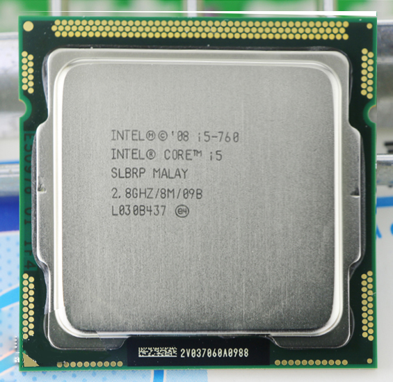 Original INTEL core 2 i5-760 CPU i5 760 Processor (2.8 GHz/ 8MB Cache/ Socket LGA1156/ 45nm) Desktop i5 760 CPU warranty 1 year