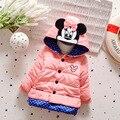 2016 Nova Moda Casaco de Inverno Menina Animal Dos Desenhos Animados Infantil Algodão-acolchoado Do Bebê Jaqueta Menina Roupas Com Capuz 1-4 anos de Idade As Crianças Parka
