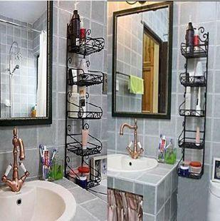 Iron Shelf Wrought Bathroom Home Shelving Wall Mount Bracket