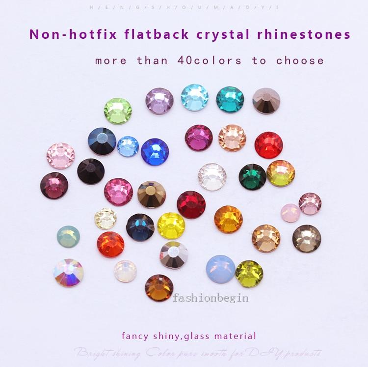 Top quality 144p ss12 crystal flat back No hotfix rhinestoneNail Art phone case