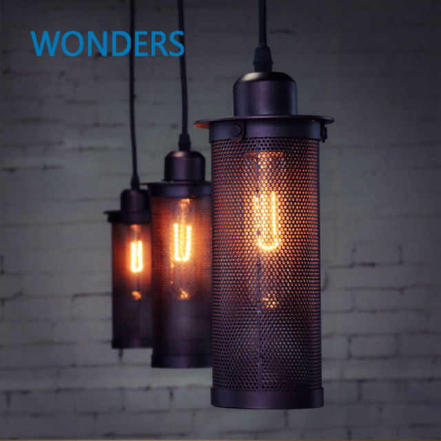 Industrial European Art Craft Net Pendant Lamp Ceiling Lamps Home Decorative  Hanging Light Bar Loft Lighting