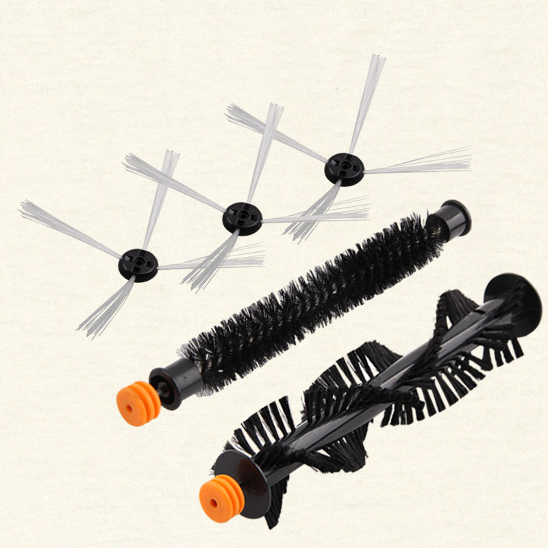 Side brush *3 pcs, Big middle brush *1 pc, Small middle brush *1 pc A380 vacuum cleaner accessories original replacement parts side brush 3 pcs big middle brush 1 pc small middle brush 1 pc a380 vacuum cleaner accessories original replacement parts