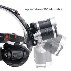 Image 2 - Linterna LED para cabeza de 20W con luces LED verdes blancas, 3 modos de iluminación, recargable por USB, luces de pesca impermeables para senderismo, Camping