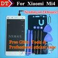 Высокое Качество Сенсорный Экран Стекла И ЖК-Дисплей Планшета Ассамблеи TP Для Xiaomi Mi4 M4 Смартфон Белого Цвета Бесплатно доставка