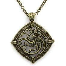 Juego de tronos dragón casa collar Targaryen colgante