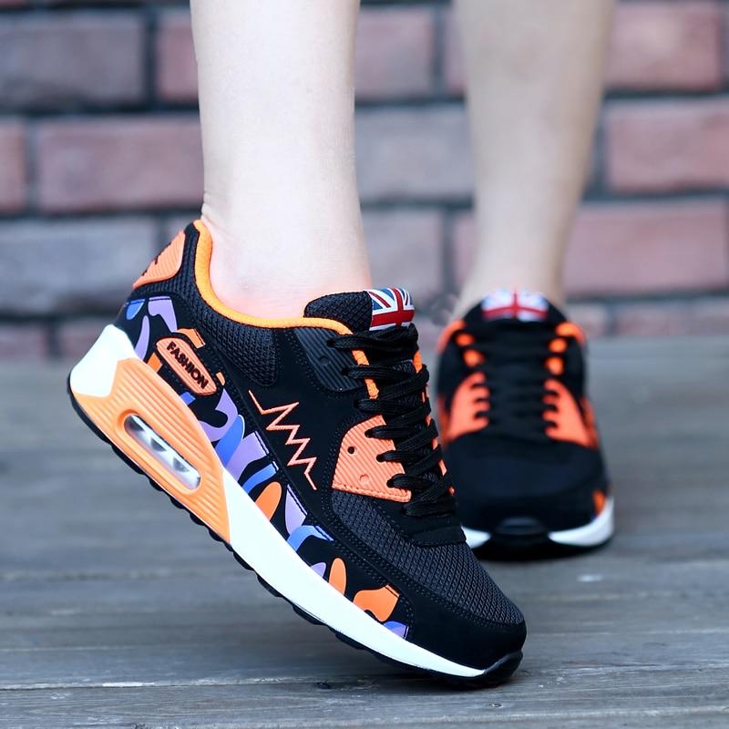 Бег обувь Женские кроссовки уличная спортивная обувь легкие женские уличные спортивные воздуха Холст прогулки Спорт теннисные кроссовки