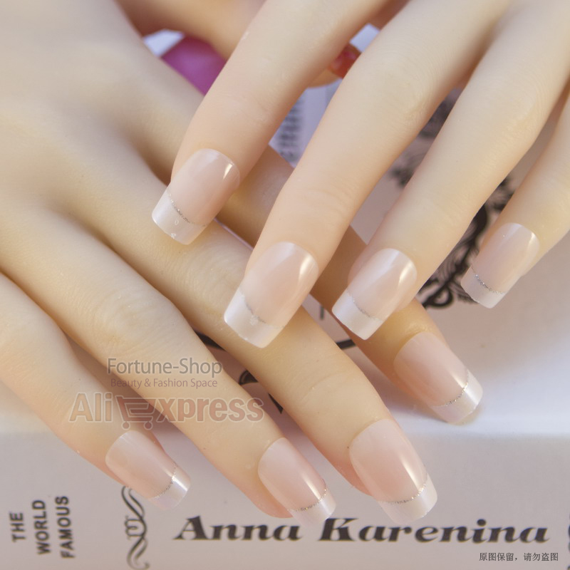 Jq 24 nails french pre design 3d false nails tips fake nail french jq 24 nails french pre design 3d false nails tips fake nail french nail art tips with free glue jq061 in underwear from mother kids on aliexpress prinsesfo Images