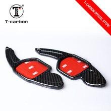 T-carbon волокно рулевое колесо сдвиг весло удлинители переключения Замена для Audi A4L A6L