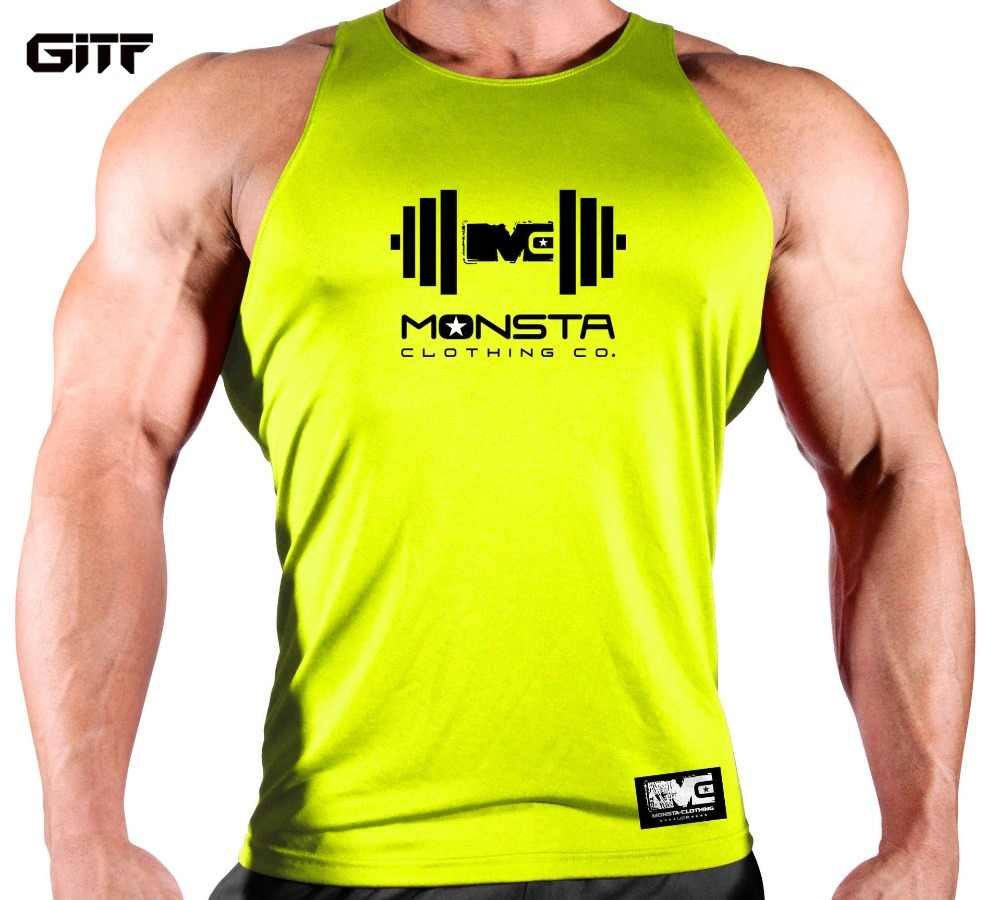 4cf33dd4cc60 GITF New Compression Fitness Tights Tank Top Quickly Dry Sleeveless Gym  Clothing Summer Workout Running Vest Sports Shirt Men