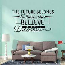 Classic believe in your dream Home Decorations Pvc Decal Removable Wall Sticker Decoration Accessories