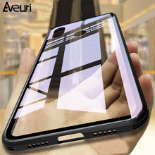 Купить с кэшбэком Aveuri 9H Tempered Glass Case For Xiaomi Mi 9 8 Mi9 Mi8 8 SE 9 SE Coque Luxury Transparent Cover Phone Case For Xiaomi Mi 8 9 SE