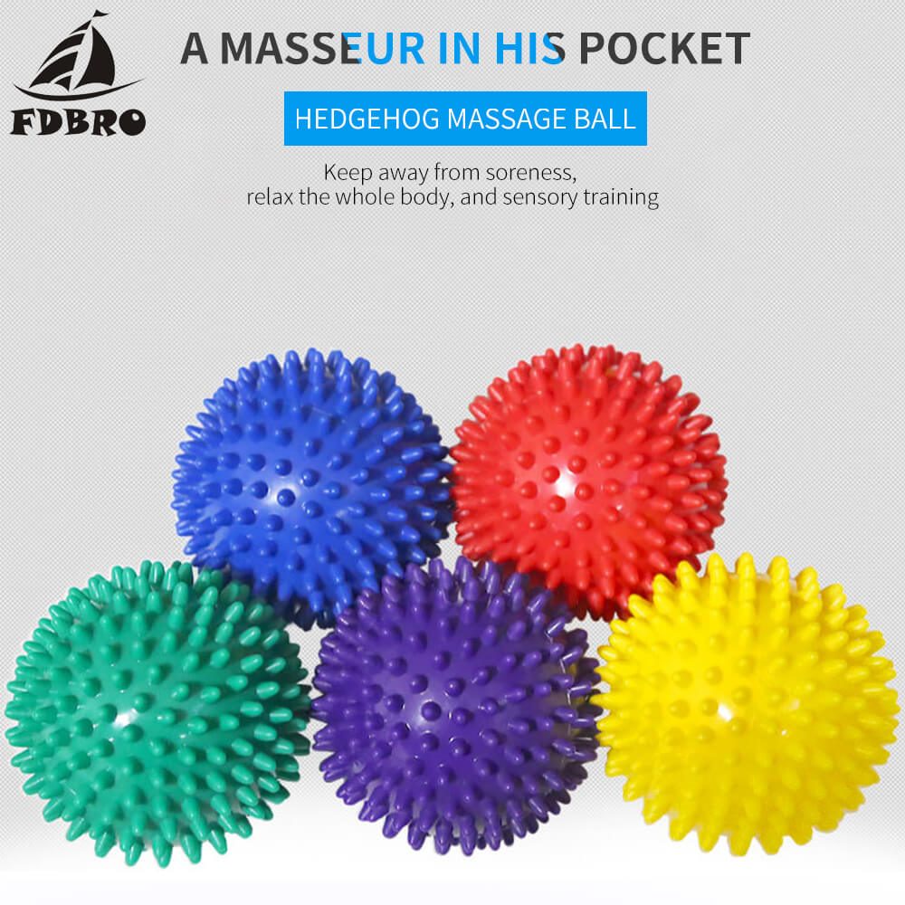 FDBRO 7cm PVC Fitness Hand Foot Massage Ball Soles Hedgehog Sensory Training Grip The Ball Portable Physiotherapy Ball
