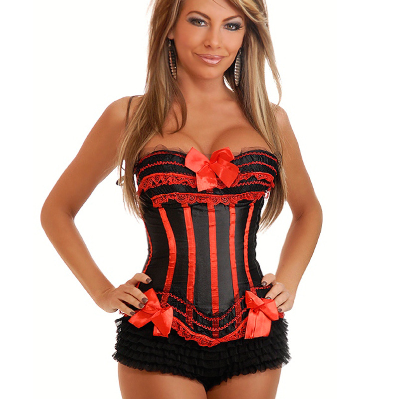 Hot Sexy Women Corsets Bustiers Leopard Gothic Steampunk Women Corset Overbust Fashion Corset with Bow