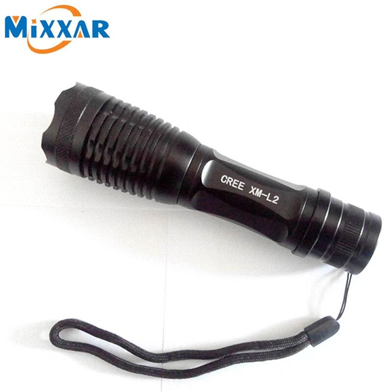 zk50 CREE XM L2 4500LM Lumens LED Flashlight LED Zoomable T6 LED Torch Lantern Portable Super