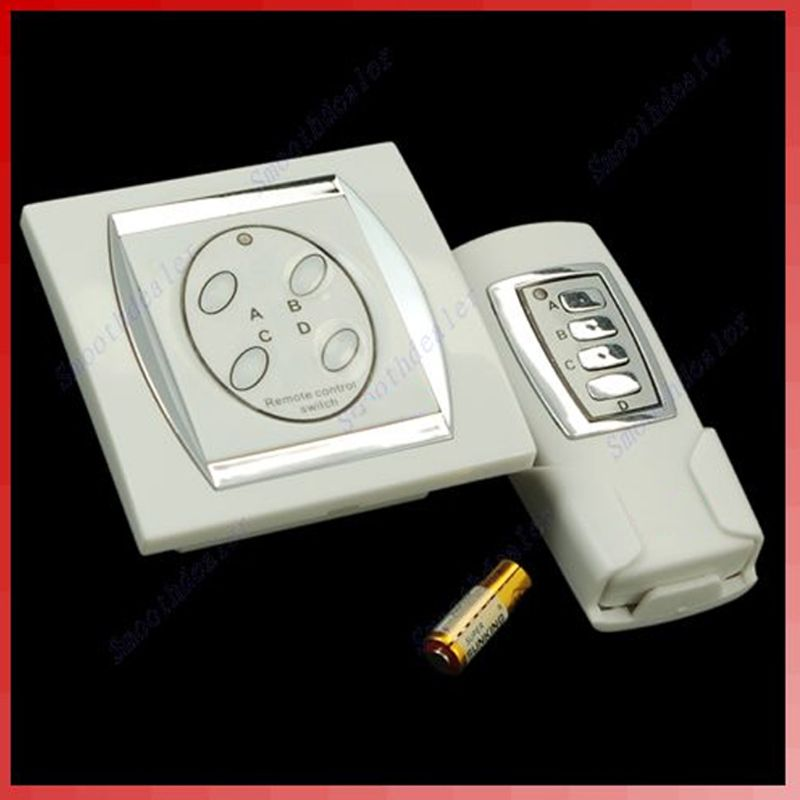 4-channel ligar/desligar interruptor de controle de energia digital controle remoto sem fio lâmpada de luz