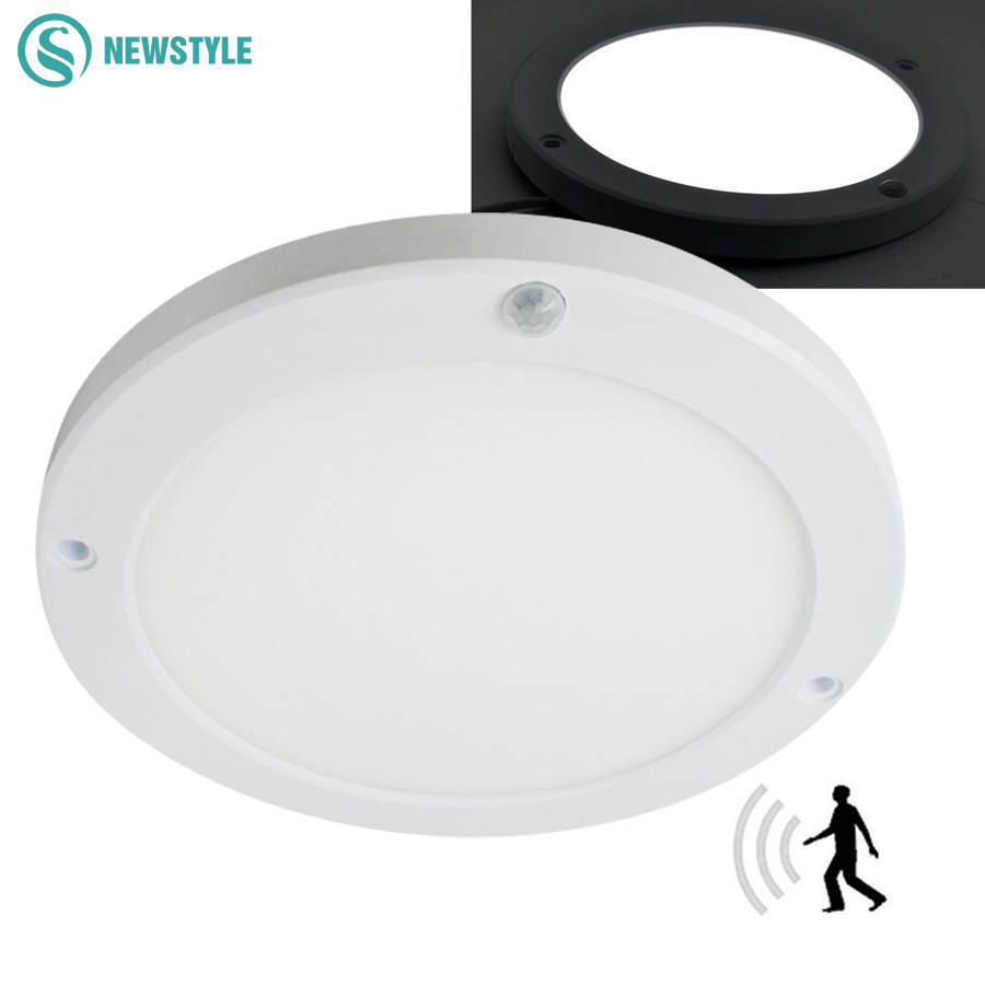 18W LED Panel Light Ceiling Lights Led sensor Downlight Human Body Infrared Detector Motion Switch Round Flush Mount Light