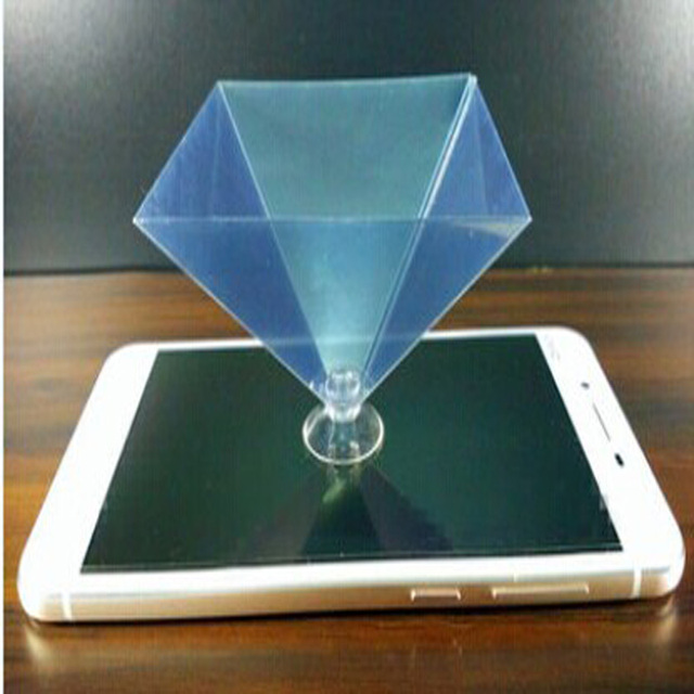 Hologram 3D showcase holographic frame pyramid by cellphone ...