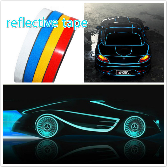 1cm X 3M 3M car Motorcycle reflective tape sticker original 3M brand with free shipping