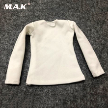 1/6 scale white long sleeve T-shirt female girl clothing shirt fit for 12 girl woman lady figure doll model