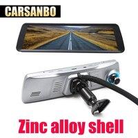 Carsanbo 9,88 дюймов Двойная линза Автомобильная камера dvr Автомобильная камера автомобильный dvr dash cam carcam Dashcam 1080 P рекордер зеркало цифровой реги