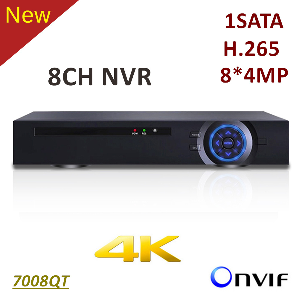 ElitePB 4K 8ch NVR HD1080P H.265 1 sata CCTV IP Network Video Recorder Support Onvif and 8*4MP IP Camera h 265 h 264 4ch 8ch 48v poe ip camera nvr security surveillance cctv system p2p onvif 4 5mp 4 4mp hd network video recorder
