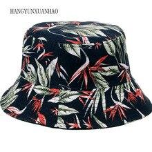 New Maple Leaf Printed Bucket Hat Men Women Hip Hop Panama Fishing Hats Bob Caps Outdoor Travel Beach Sunscreen For Summer