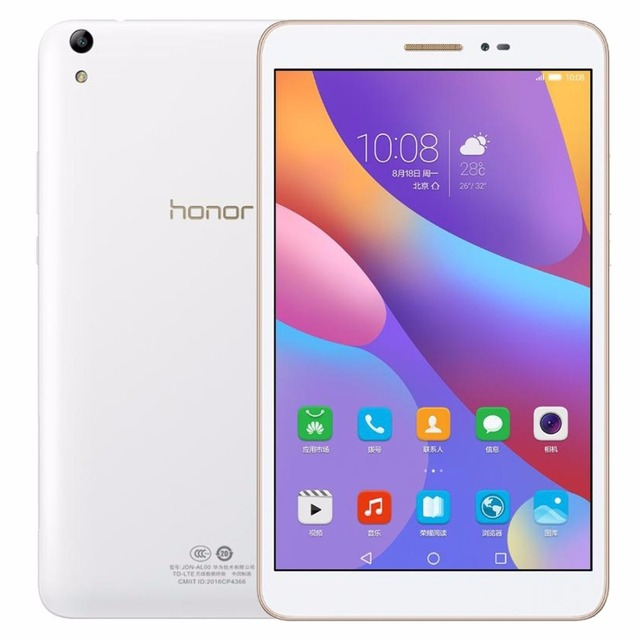 Original 8.0 inch Huawei Honor Tablet 2 JDN-W09 3GB/ 16GB EMUI4.0 (Android 6.0) Qualcomm Snapdragon 616 Octa Core Tablet GPS OTG