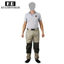KyleBooker Fly Рыбалка Куликов брюки прочный всепогодный вброд дышащий талии брюки с трикотажные ткани