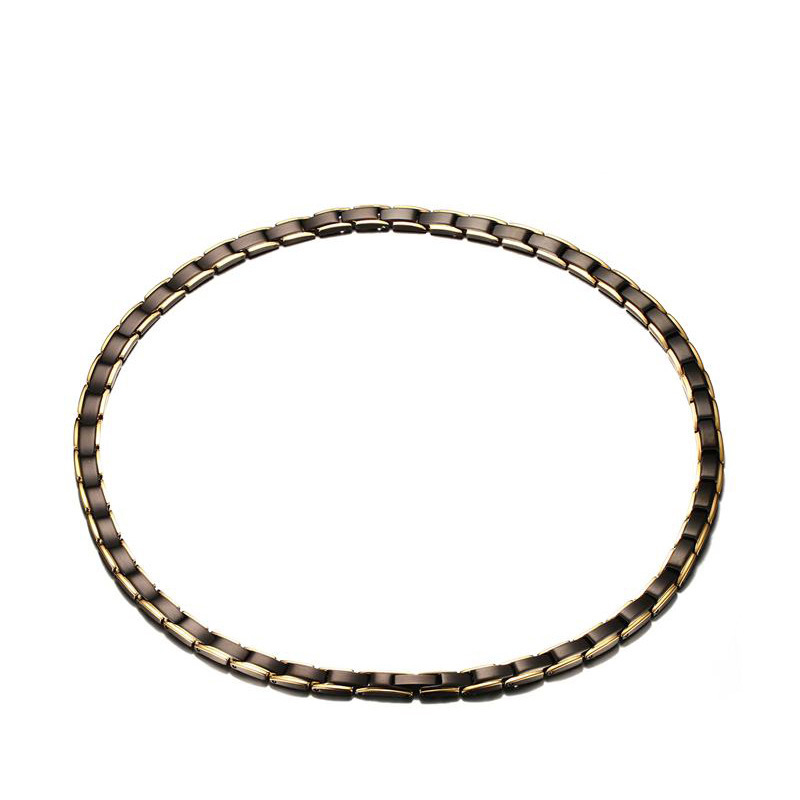 Stainless Steel Magnet Germanium Far Infrared Chain link Necklace for Men Women Chokers Slimming Necklaces Health Jewelry-0