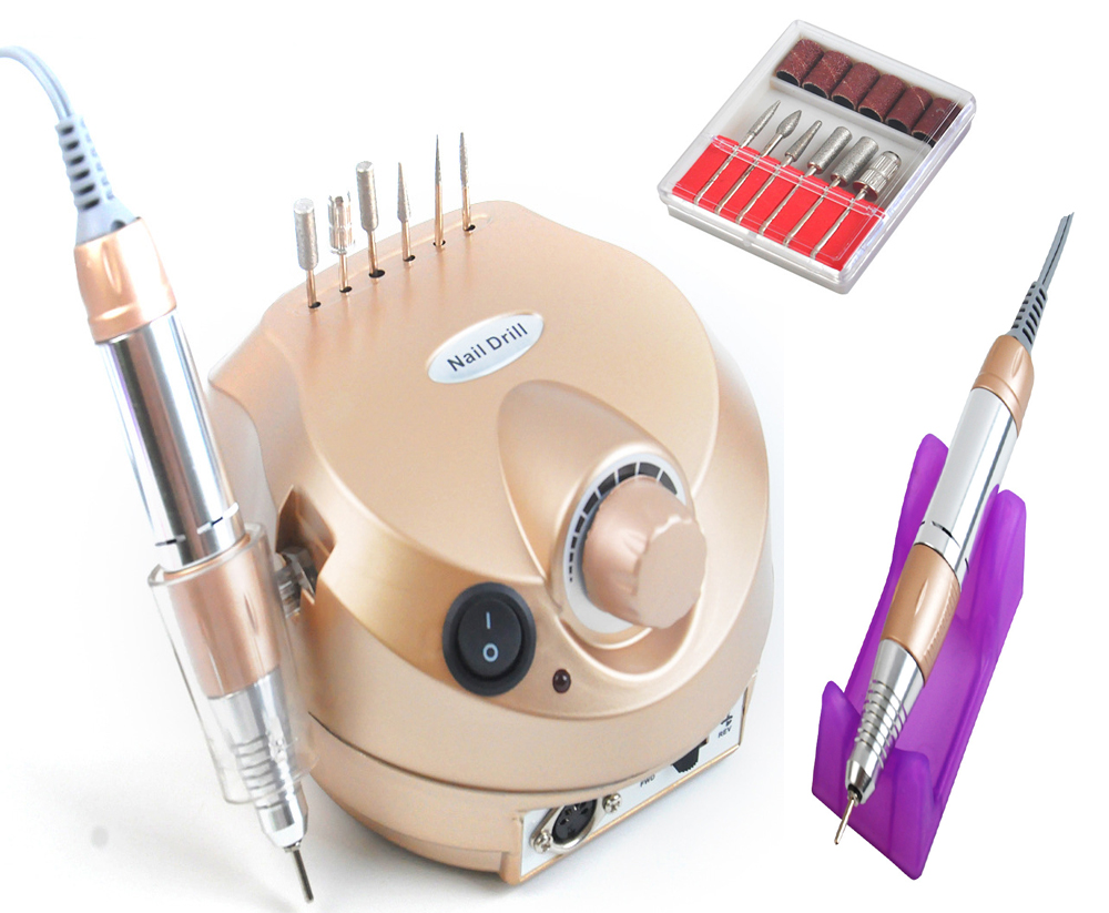 Professional Golden 30000RPM Electric Nail Drill File Bit ...