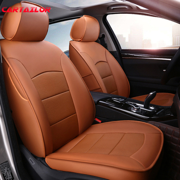 CARTAILOR Automobiles Seat Covers for Honda Accord Car Seat Cover Cars Seats Supports Cowhide & Leatherette Styling Accessories