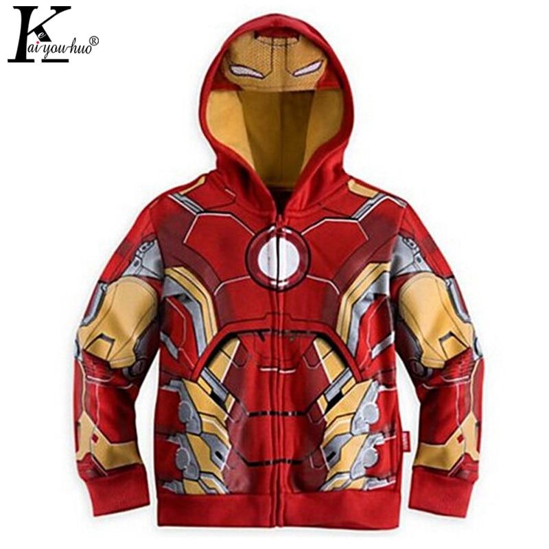 Avengers Iron Man Children Boys Jacket Hooded Sweatshirt -7479