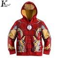 The Avengers Iron Man Niños de Los Hoodies de Las Muchachas Capa Del Resorte Del Otoño Niños de Manga Larga Casual Outwear Niños Ropa