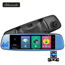 Bluavido 7.84″ Car DVR 4G Android Rear view mirror Touch GPS Navigator Full HD 1080P Video Camera Recorder ADAS Dual lens WiFi