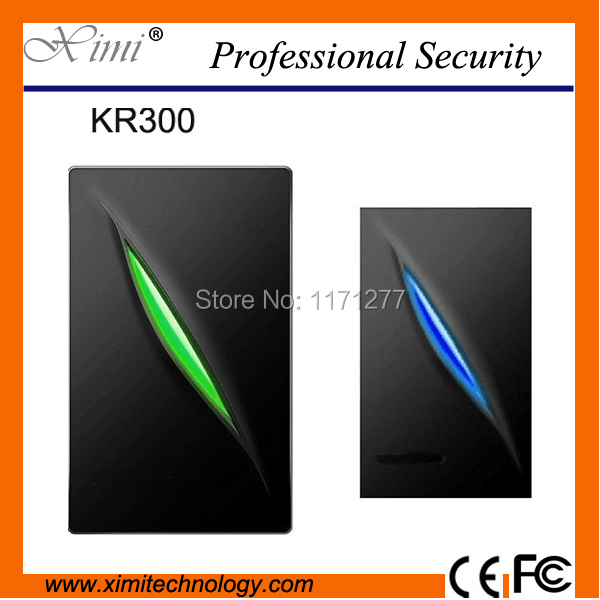 Waterproof for access control Indoor / Outdoor operation both read 125KHz rfid /13.56MHz IC card reader 26bit/34bit card reader 13 56mhz waterproof wg26 rfid ic reader for access control
