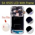 Lcd de repuesto para samsung galaxy s4 i9500 i9505 lcd de pantalla táctil digitalizador con marco