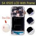 Substituição lcd para samsung galaxy s4 i9500 i9505 lcd de toque digitador da tela com moldura