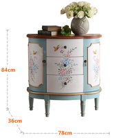 American painting cabinet Mediterranean for old decorative cabinets pastoral European living room storage cabinet locker